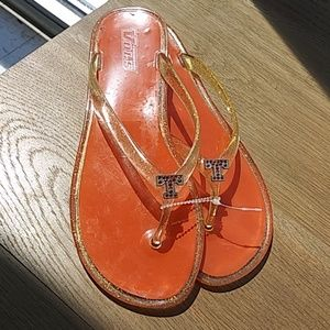 Shoes - Tennessee Volunteers sparkly jelly sandals